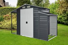Hanover HANMLTISHD-GW Separate Firewood Storage and Open Extension 3-in-1 Galvanized Steel Multi-Use Shed * (paid link) Want to know more, click on the image.
