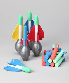 Take a look at this Squeeze Rocket & Squeeze Plane Set on zulily today!