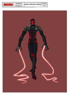 Whiplash concept design for Iron Man Armored Adventures