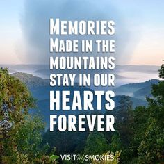 Memories made in the mountains stay in our hearts forever. ❤️ #SmokyMountains #Gatlinburg #PigeonForge #GSMNP #NationalPark