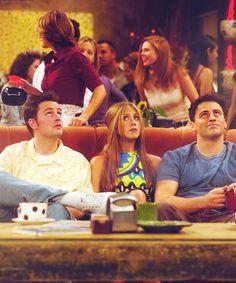 Chandler, Rachel and Joey
