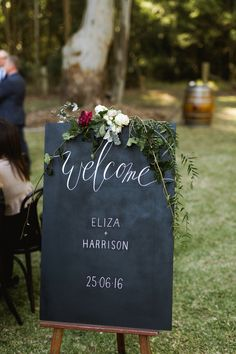 #Blooms on Darby #nicksims #nicksimsphotography #huntervalley #wedding #flowers #bride #romantic #foliages #blush #cream #bouquet #informal #sign #blackboard