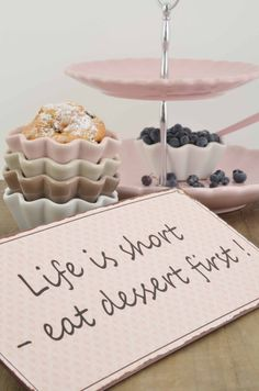 Mynte stoneware by Ib Laursen, Lets have cake... Cup cake bowls in English Rose, Cafe Latte, Milky Brown and Pure White...