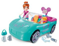 Polly Pocket Goodie World Convertible by Mattel. $9.99. Polly and her friends can cruise around in style. Lots of Goodie World inspired vehicle with fashions. Features fun Goodie World vehicle. Great gift idea that any girl will love. Includes 1 doll, fashions, Cutant friend, vehicle, and accessories. From the Manufacturer                Polly Pocket Goodie World Convertible: Time to get movin'. Polly and her friends can cruise around in style in the Goodie World boat ...