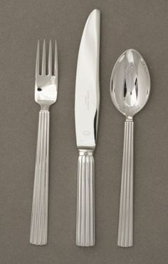 Georg Jensen Sterling Silver Bernadotte Pattern by Sigvaard Bernadotte, Handmade Sterling Silver - Gallery 925