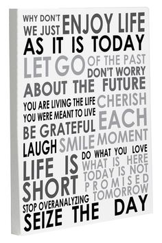 Enjoy Life Today Wall Decor