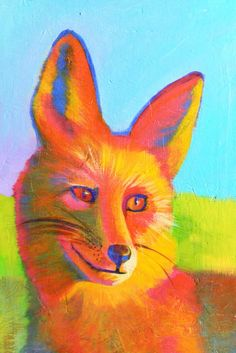 F is for Fox- Original acrylic painting