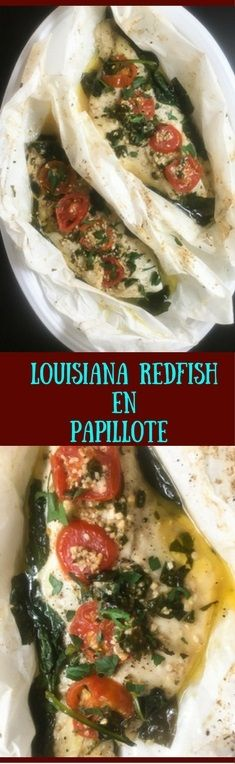 Ultra-flavorful to eat, and impressive to gaze upon, this Louisiana redfish en papillote is a gluten free, low carb meal from A Sprinkling of Cayenne that takes roughly 35 minutes to make. | http:∕∕asprinklingofcayenne.com