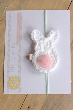 Crochet Hair Clip Crochet Hair Bow Baby Hair Clip by littlepunky