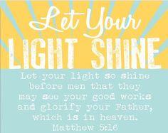 Religieuze Gift laat uw licht schijnen Art Print Poster schrift bijbel vers…
