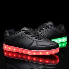 SanYes USB LED de carga zapatos zapatillas de por Salobeta en Etsy