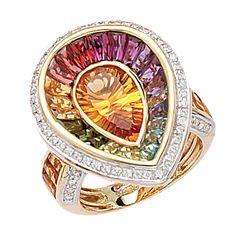 Gemstone & Diamond Bellarri Ring by Eva Gems Jewelry, Gemstone Jewelry, Diamond Jewelry, Jewelry Accessories, Fine Jewelry, Jewelry Design, Jewlery, Saphir Rose, Beautiful Rings