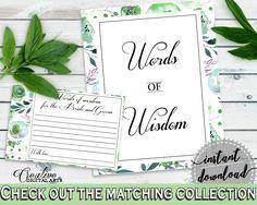 Words Of Wisdom Bridal Shower Words Of Wisdom Botanic Watercolor Bridal Shower Words Of Wisdom Bridal Shower Botanic Watercolor Words 1LIZN #bridalshower #bride-to-be #bridetobe