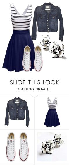 """Spring 🌼🌼"" by rnichole ❤ liked on Polyvore featuring Current/Elliott and Converse"