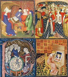 Actividades de la mujer en la Edad Media. Manuscrit des Chroniques de France, siglo XV. British Library. pic.twitter.com/QtbvkBfvWG