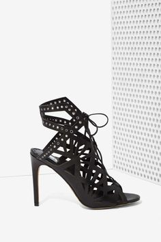 Dolce Vita Helena Leather Cutout Heel - Open Toe |  | Sandals