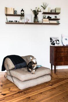 [ NEUE KATEGORIE ] KATZENBESITZER UND IHR ZUHAUSE - DIE HOMESTORY MIT LIEBLINGSMADCHEN - Mid Century Möbel im Wohnzimmer - Modern meets Scandinavian