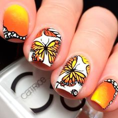30+ Fresh And Trendy Spring Nail Designs You Must Try ❤️ Bright Designs With Butterflies picture 1 ❤️ Spring nail designs are what you need to start thinking about right now. You do not want the spring trends to take you by surprise, do you?  https://naildesignsjournal.com/spring-nail-designs/ #naildesignsjournal #nails #springnails