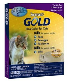 Sergeant's Gold Flea Collar for Cats~ 2 Pack >>> You can get more details by clicking on the image.