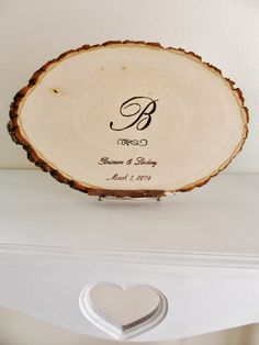 Personalized Wood Slice Guest Book  by KraftedSweetMemories