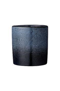 Potteskjuler retro i blå porcelæn. Ø 14 cm x højde 14,5 cm. <br><br>