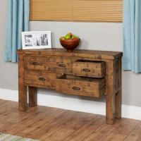 Baumhaus Heyford Rough Sawn Oak Console Table
