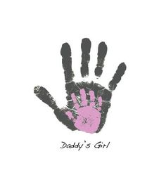 Personalized Father's Day gift handprint art footprint print for Dad from child or baby Personalized Fathers Day Gifts, Daddy Gifts, Fathers Day Crafts, Gifts For Dad, Parent Gifts, Daddy Daughter Dance, Daddy Day, Father Daughter, Baby Crafts