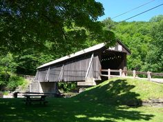 BEAVERKILL BRIDGE, 32-53-02, Town Lattice Truss, built by John Davidson in 1865. It is 98' long & is currently on the books for the National Register. It is located on Campsite Road in Beaverkill State Campsite, SW of Lewbeach.    The GPS location is N41 58.893 W74 50.170.  SULLIVAN COUNTY  NY