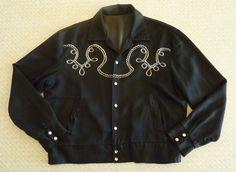 H Bar C Vintage 1950's Mens Western Style Jacket by cowpunkabilly