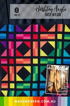 """The second block in the 2020 Block Swap is the Hashtag Angle. Make a block for yourself, or to swap, in either 10"""" or 20"""" sizes, or stitch up the 60"""" throw quilt version of this quilt, right here right now. The swap will take place in 2021 due to world circumstances. quilting 