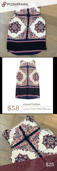 StitchFix 41Hawthorn Lyone Blouse 41Hawthorn Lyone Blouse by Stitch Fix. Light blouse great for work or play. 100% polyester.  Gently worn once. 18.5 inches from armpit to armpit. 41Hawthorn Tops Blouses