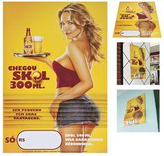 Chegou Skol 300 ml. Ser pequeno tem suas vantagens. E que vantagens. | Clube de Criação