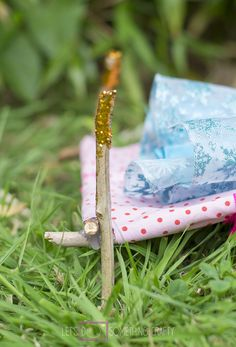 Doll's furniture made from sticks. Perfect outdoor activity!