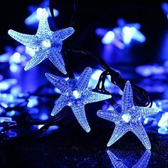 LUCKLED Original Starfish Solar String Lights, 20ft 30 LED Fairy Christmas Lights Decorative Lighting for Indoor/Outdoor, Garden, Home, Patio, Porch, Party and Holiday Decorations(Blue), http://www.amazon.com/dp/B00VX7HIEA/ref=cm_sw_r_pi_awdm_t0.dxb081TZT1