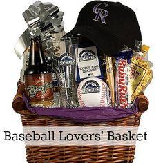 Auction Basket Ideas for Men - Bing images Theme Baskets, Themed Gift Baskets, Diy Gift Baskets, Food Baskets, Baseball Gift Basket, Baseball Gifts, Fundraiser Baskets, Raffle Baskets, Ideas Sorpresa