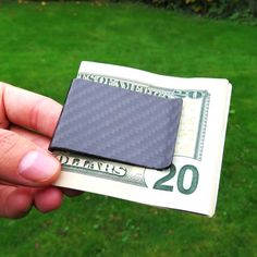Carbon fiber money clip - Black