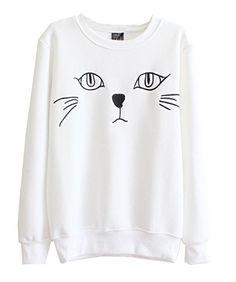 Mooncolour Women Girls Pure Color Cartoon Cat Print Fleece Warm Sweatshirt Mooncolour http://www.amazon.com/dp/B00MMW84KC/ref=cm_sw_r_pi_dp_-gpzub1XN9GAH