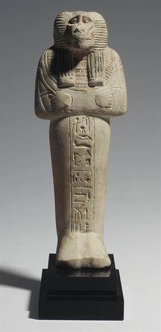 AN EGYPTIAN LIMESTONE BABOON-HEADED SHABTI FOR DJEHUTYMOSE NEW KINGDOM, DYNASTY XIX, CIRCA 1280 B.C. | Christie's