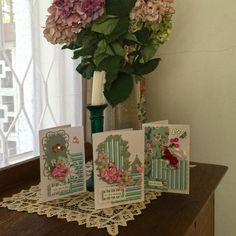 Dusty Green Floral Cards