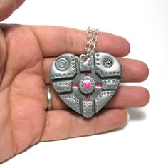 An adorable new way to make a companion cube necklace! From DevilishDesigns on etsy.