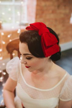 """The """"Bonnie"""" - 50s/60s Vintage style velvet double hair bow cocktail hat fascinator - CHOOSE FROM 10 COLOURS - made to order"""