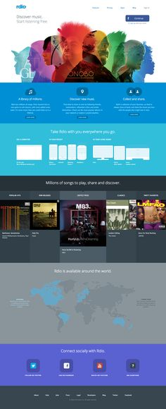 Love the new Rdio web design. Especially that photo montage at the top.