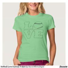 Simple and Sweet...Softball Love T-shirt. Choose any color you want :) #softball #softballshirts
