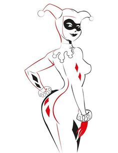 12 Best Harley Quinn Outline Images In 2018 Drawings Joker