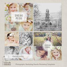 Sneak Peek Blog Board & Collage Photoshop von ClickChicksDesigns