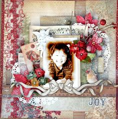 Joy~My Creative Scrapbook Kit - Scrapbook.com Kaisercraft - Turtle Dove Collection - Christmas