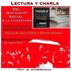 Sábado de lectura y charla literaria en radio. Programa Leyendo-Te por www.radiodiferente.com cada sábado 4:00 p.m.