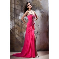 Graceful A-Line Sweetheart Floor-Length Empire Waistline Beadings... ($130) via Polyvore