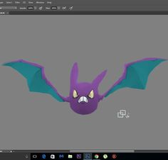 """Crobat.  I don't know why the colors keep changing when I see my work in any cellphone... and """"focaps"""" the contrast too... 😢 #pokemon #fanart #illustration #art #videogame #anime #painting #artwork #study #digitalart #manga #photoshop"""