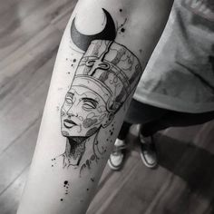 "Explore creative board ""Egyptian Tattoos"" on creativetatto. See more ideas about Egyptian tattoo, Tattoos and Egypt tattoo. Tatto Ink, Body Art Tattoos, New Tattoos, Script Tattoos, Hamsa Tattoo, Arabic Tattoos, Dragon Tattoos, Cleopatra Tattoo, Nefertiti Tattoo"